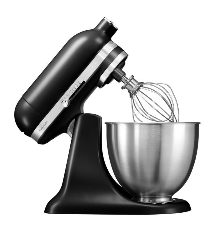 KitchenAid Artisan Mini kuchyňský robot 5KSM3311XEBM matná černá + Akční set KitchenAid balíček s příslušenstvím FPPC