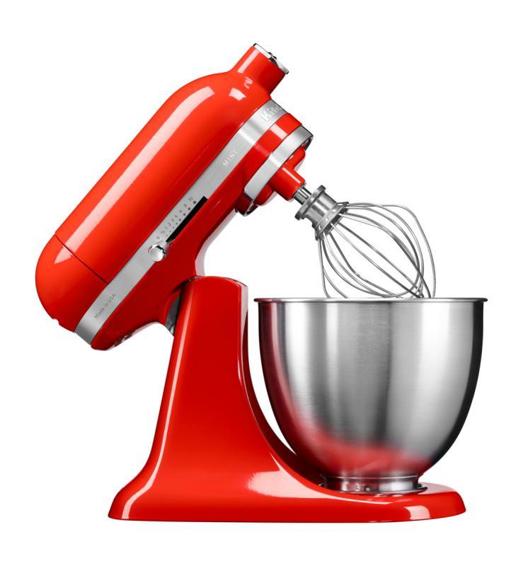 KitchenAid Artisan Mini kuchyňský robot 5KSM3311XEHT ostrá omáčka + Akční set KitchenAid balíček s příslušenstvím FPPC
