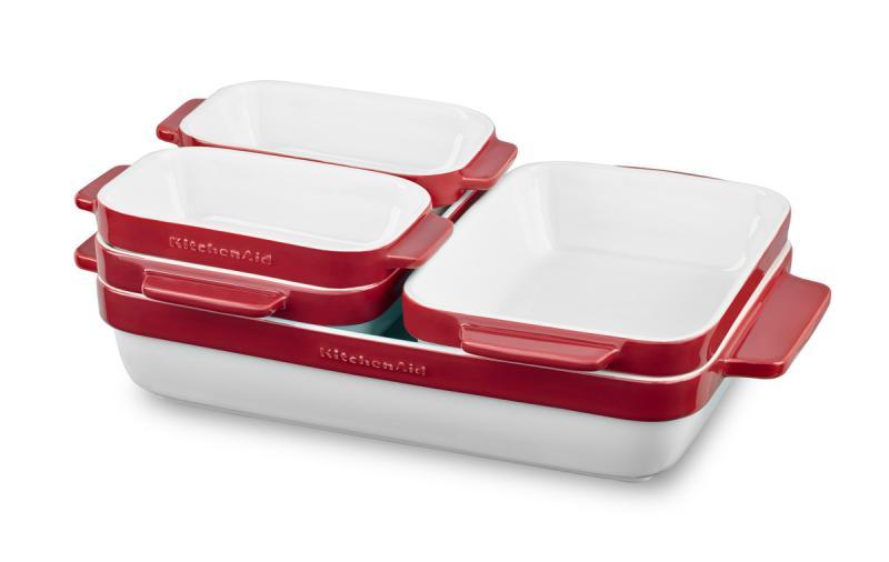 KitchenAid KBLR05SBER sada pečící keramiky 5 ks - královská červená