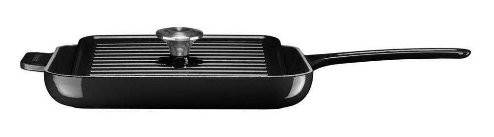 KitchenAid gril & panini pánev s poklicí litinová - černá, 24 cm