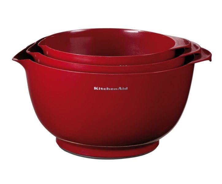 KitchenAid pracovní nádoba 3 ks - královská červená