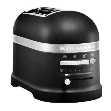 KitchenAid Artisan 5KMT2204EBK toustovač černá litina + Akční set KitchenAid mřížka na sendviče 5KTSR1